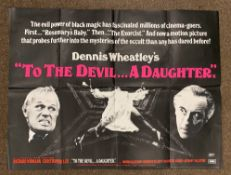 To The Devil... A Daughter British Quad film poster, folded.