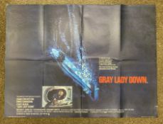 Gray Lady Down British Quad film poster, folded.