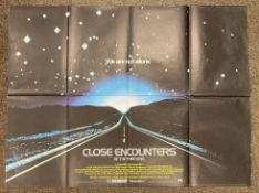 Close Encounters Of The Third Kind British Quad film poster, folded.