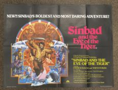 Sinbad And The Eye Of The Tiger British Quad film poster, folded.