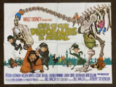 Walt Disney Productions One Of Our Dinosaurs Is Missing British Quad film poster, folded.