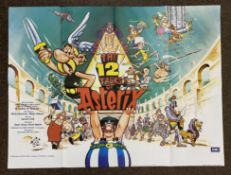 The 12 Tasks Of Asterix British Quad film poster, folded.