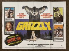 Grizzly British Quad film poster, folded.
