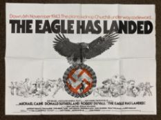 The Eagle Has Landed British Quad film poster, folded.
