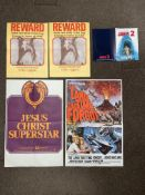 Mixed lot: 2x The Magic Of Lassie card posters, Jesus Christ Superstar poster (75cm x 50cm approx.),