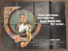 Clint Eastwood will turn you Every Which Way But Loose British Quad film poster, folded.
