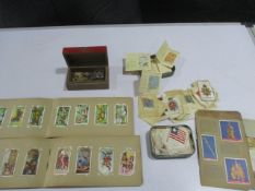 A collection of cigarette cards ( including Turf, Lawn Virginia Cigarettes, Gallagher etc.) along