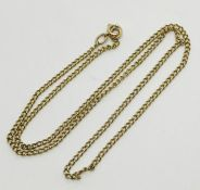 A 9ct gold chain, weight 4.2g