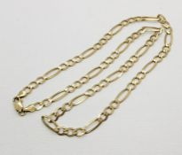 A 9ct gold chain. Weight 10.5g