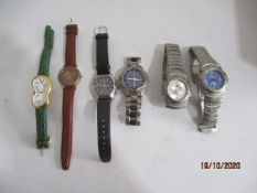 A box of assorted watches including Animal etc
