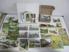 A collection of railway related postcards
