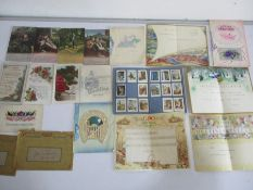 A small quantity of postcards and telegrams etc.