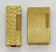 A Dunhill lighter along with a Dupont lighter ( A/F)