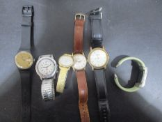 A collection of assorted watches including Timex etc.