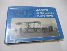 "Hardback ""Jane's All the World's Airships 1909"" edited by Fred T. Jane. Bound in green cloth with"