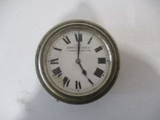 A vintage car dashboard clock by S.Smith & Son Limited