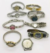 A collection of various watches including Sekonda, Ernest Borel etc.