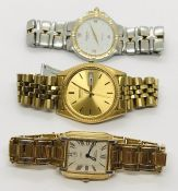 """A Raymond Weil gentleman's """"Parsifal"""" stainless steel wristwatch, along with a Raymond Weil"""