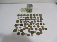 A small collection of various coins