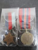 Two WWII medals