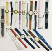 A collection of watches including Swatch