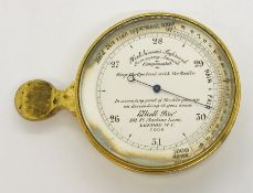 A late 19th/early 20th century pocket barometer, Elliot Bros, Hutchinsons Improved Surveying Aneroid