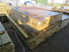9 X ASSORTED WOODEN FENCE PANELS
