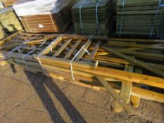 5 X ASSORTED SIZED WOODEN FIELD GATES