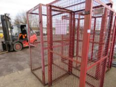 2 X SINGLE GAS BOTTLE STORAGE CAGES 1.0M X 1.0M X 1.15M HEIGHT APPROX NO VAT ON HAMMER PRICE