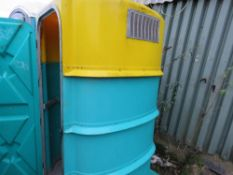 PORTABLE SITE TOILET WITH WASHBASIN