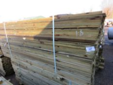 2 X PACKS OF FEATHER EDGE CLADDING TIMBER 1.8M X 10.5CM WIDTH APPROX