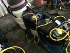 2 X MAKITA 110VOLT INDUSTRIAL VACUUMS PLUS ANOTHER..3NO IN TOTAL...CONDITION UNKNOWN