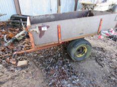 Small garden tractor trailer