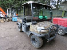 KUBOTA 900 RTV UTILITY VEHICLE, 1788 REC HRS, REG: CN12 APX (LOG BOOK TO APPLY FOR) WITH EXTERNAL