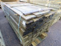 1 X LARGE PACK OF FEATHER EDGE CLADDING TIMBER 1.76M X 10.5CM WIDTH APPROX