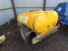 Single axled water bowser, suitable to make into washer bowser
