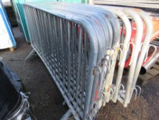 11NO. METAL CROWD BARRIERS This items is being item sold under AMS…no vat will be on charged on