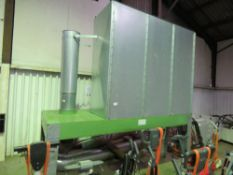 THE WOODWORK DUST CONTROL COMPANY LARGE CAPACITY DUST EXTRACTION SYSTEM C/W PIPEWORK