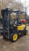 DAEWOO G20 GAS POWERED FORKLIFT TRUCK, YEAR 2004 BUILD, 3 STAGE TRIPLE MAST, SIDE SHIFT, 2 TONNE