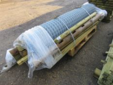 WIRE FENCE NETTING PLUS POSTS & STAKES