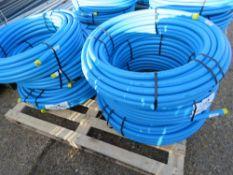 6 X 50METRE LENGTH ROLLS OF BLUE 32MM WATER PIPE