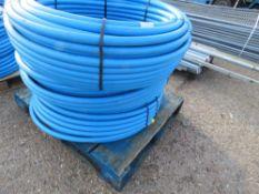 3 X 100METRE LENGTH ROLLS OF BLUE 32MM WATER PIPE
