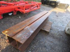 2no. Heavy duty H-section RSJ steel beams, 2.8m length x 30cm width. 15\% Buyers Premium on this