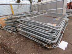 LARGE QUANTITY OF HERAS TYPE MESH SITE FENCING, APPROXIMATELY 70 X PANELS PLUS 7 X ASSORTED