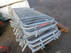 13NO. METAL PEDESTRIAN BARRIERS This items is being item sold under AMS…no vat will be on charged on