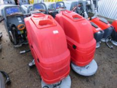 2 X COMOC SCRUBBER FLOOR CLEANERS, SPECIAL NOTE: NO BATTERIES. MAY BE INCOMPLETE. CONDITION