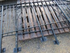 2 X DECORATIVE METAL BALLISTRADE STAIR RAILS, CIRCA 9FT LENGTH EACH This items is being item sold