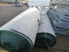 3 X LARGE ROLLS OF PRE USED ASTROTURF MATTING BELIEVED TO 4 METRE WIDE X 30METRE LENGTH EACH...