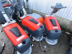 4 X HAKO SMALL SIZED SCRUBBER FLOOR CLEANERS, SPECIAL NOTE: NO BATTERIES. MAY BE INCOMPLETE.