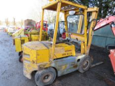 COVENTRY CLIMAX UNIVERSAL DIESEL FORKLIFT WITH PERKINS ENGINE. 2300KG RATED LIFT CAPACITY WHEN